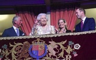 File Photo: Britain's Queen Elizabeth waves during a special concert