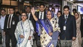 Prime Minister Sheikh Hasina, accompanied by her sister Sheikh Rehana, arrives at Shahjalal International Airport early on Monday ending an eight-day trip to Saudi Arabia and the UK. Photo: BSS