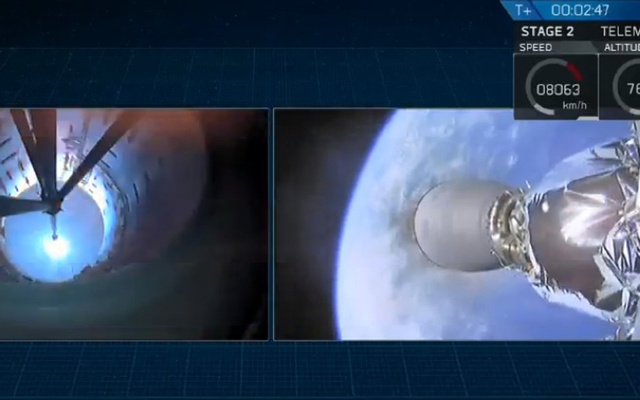 Main engine cutoff and stage separation.