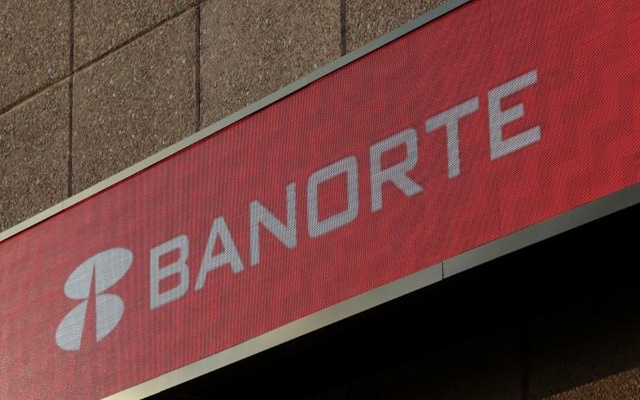 FILE PHOTO: A sign of Banorte bank is pictured at its headquarters in Monterrey, Mexico, December 5, 2017. Reuters