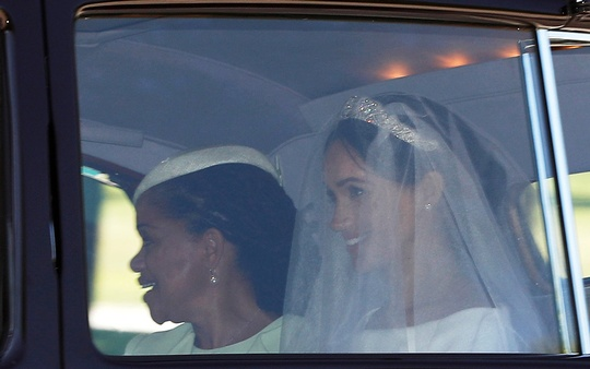 Meghan Markle with her mother Doria Ragland departs for her wedding to Britain's Prince Harry, in Taplow, Britain, May 19, 2018. Reuters