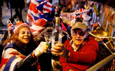Fans of the royal family camp outside Windsor Castle prior to the wedding of Prince Harry and Meghan Markle in Windsor, Britain May 18, 2018. Reuters