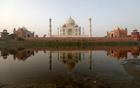 The historic Taj Mahal is pictured from across the Yamuna river in Agra, India, May 20, 2018. REUTERS