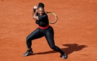 Serena Williams of the US in action during her first round match against Czech Republic's Kristyna Pliskova. French Open - Roland Garros, Paris, France - May 29, 2018. Reuters