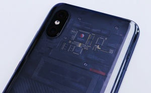 The back of Xiaomi flagship Mi 8 transparent Explorer Edition is seen during a product launch in Shenzhen, China May 31, 2018. Reuters