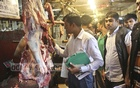A mobile court of RAB conducted a drive at a butcher's in Shantinagar kitchen market in Dhaka on Friday.