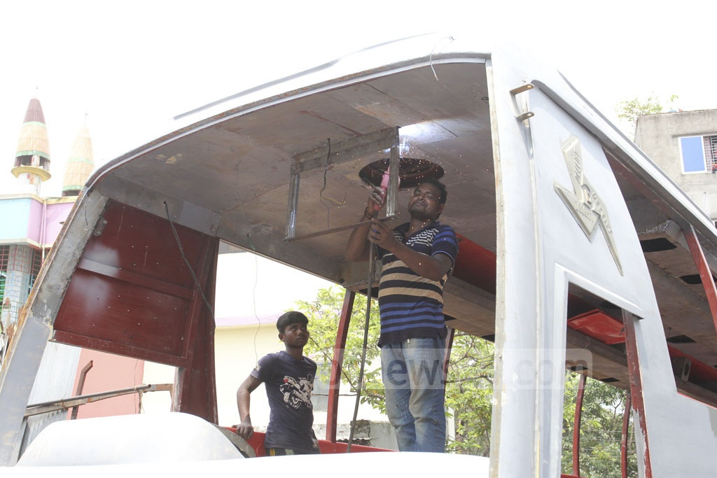 Old buses are being given a makeover ahead of Eid-ul-Fitr.
