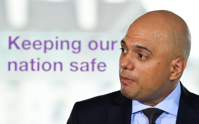 File Photo: Britain's Secretary of State for the Home Department, Sajid Javid, makes a speech outlining an overhaul of UK counter-terror strategy in central London, Britain, June 4, 2018. Reuters