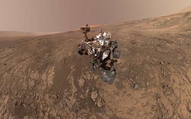 NASA's Curiosity Mars Rover snaps a self-portrait at a site called Vera Rubin Ridge on the Martian surface in February 2018 in this image obtained on June 7, 2018. Reuters