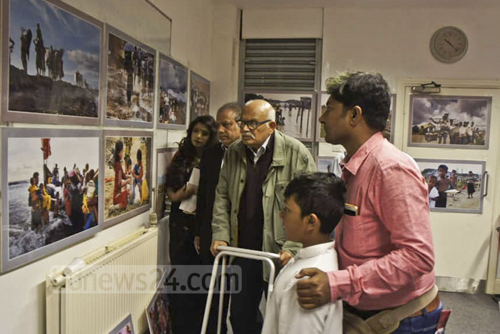 A four-day photography exhibition of Bangladeshi photojournalist Fojit Sheikh Babu titled 'Who are the New Vote People' began on June 8 at the London Shilpakala Academy. The exhibition has been arranged to help the persecuted Rohingya people from Myanmar. The exhibition will continue until June 11.