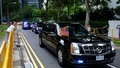 The motorcade of US President Donald Trump travels towards Sentosa for his meeting with North Korean leader Kim Jong Un, in Singapore June 12, 2018. Reuters