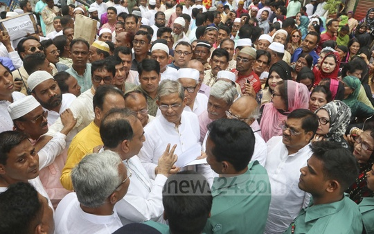 BNP Secretary General Mirza Fakhrul Islam Alamgir and other party leaders were blocked from seeing BNP Chairperson Khaleda Zia in prison on Eid day. Photo: Abdullah Al Momin