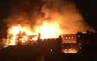 The rear elevation of the Glasgow School of Art is seen on fire, in Glasgow, Scotland, Britain, Jun 15, 2018, in this still image obtained from social media. Twitter/@Banpo_Monkey via Reuters