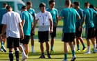 World Cup - Germany Training - Germany Training Camp, Moscow, Russia - June 16, 2018 Germany coach Joachim Low during training. Reuters