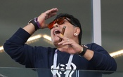 World Cup - Group D - Argentina vs Iceland - Spartak Stadium, Moscow, Russia - Jun 16, 2018 Former Argentina player Diego Maradona watches from the stand. Reuters