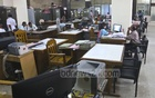 Sonali Bank offices were still mostly empty on Monday, the first workday after the Eid. Photo: Abdullah Al Momin