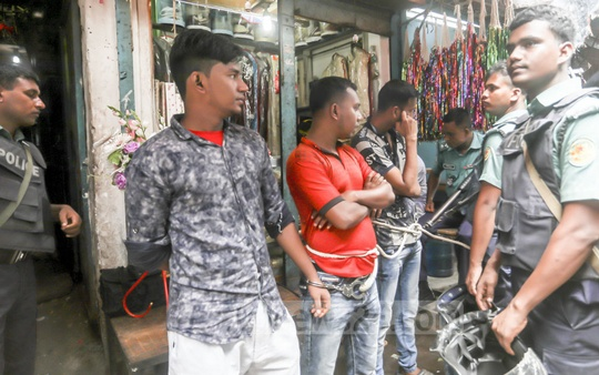 Police arrested several people on charges of drug dealing in the Mohammadpur's Geneva Camp on Wednesday.