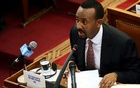 File Photo: Ethiopia's newly elected Prime Minister Abiy Ahmed addresses the members of parliament inside the House of Peoples' Representatives in Addis Ababa, Ethiopia Apr 19, 2018. Reuters