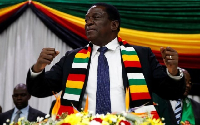 FILE PHOTO: Zimbabwe President Emmerson Mnangagwa announces the date for the general elections in Harare, Zimbabwe May 30, 2018. Reuters