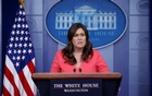 US White House Press Secretary Sarah Huckabee Sanders holds the daily briefing at the White House in Washington, DC, US, Jun 18, 2018. Reuters