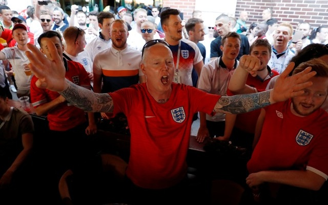 England fans before the match. Reuters