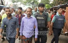 Police detain several suspects for their alleged involvement in drug peddling in Mohakhali's Korail slum in Dhaka. Photo: Asif Mahmud Ove