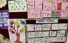 Drawings and paintings by the students of the Abinta Kabir Foundation School. Photo: Mahmud Zaman Ovi