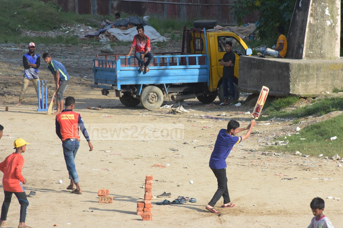 Children's interest in sports is waning in Chattogarm because of a shortage of playgrounds that have mercilessly been encroached upon. The outer stadium adjacent to MA Aziz Stadium bears testimony to the sad scenario. Photo: Suman Babu