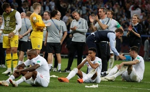 England's Jesse Lingard looks dejected after the match. Reuters