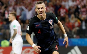 Croatia's Ivan Perisic celebrates scoring their first goal. Reuters