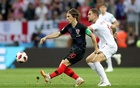 File Photo: Croatia's Luka Modric in action with England's Jordan Henderson at Luzhniki Stadium, Moscow, Russia - Jul 11, 2018. Reuters