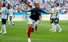 File Photo: France's Kylian Mbappe scores against Argentina in Kazan, Russia - Jun 30, 2018. Reuters