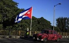 A Cuban flag flies over 'Almendares' bridge in Havana, Cuba Feb 26, 2016. Reuters