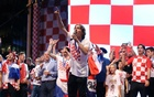 The Croatia team return from the World Cup in Russia - Zagreb,Croatia - July 16, 2018 Croatia's Luka Modric on stage. Reuters
