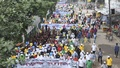The Department of Fisheries took out a parade in Dhaka on Wednesday to mark the National Fisheries Week.