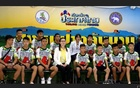 The 12 boys and their soccer coach who were rescued from a flooded cave arrive for a news conference in the northern province of Chiang Rai, Thailand, July 18, 2018. Reuters