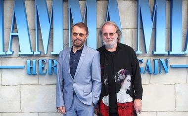 Bjorn Ulvaeus and Benny Andersson attend the world premiere of Mamma Mia! Here We Go Again at the Apollo in Hammersmith, London, Britain, July 16, 2018. Reuters
