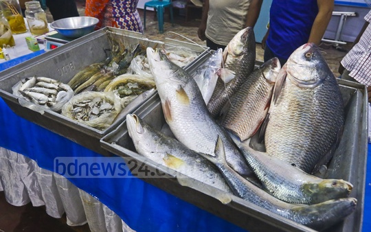 A five-day National Fish Fair started at the Krishibid Institution premises in Dhaka on Friday as part of the National Fisheries Week 2018. Photo: Abdullah Al Momin