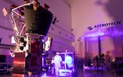 Technicians and engineers perform light bar testing on NASA's Parker Solar Probe, which will travel through the Sun's atmosphere, in the Astrotech processing facility near NASA's Kennedy Space Center, in Titusville, Florida, US, Jun 5, 2018. NASA Handout via Reuters