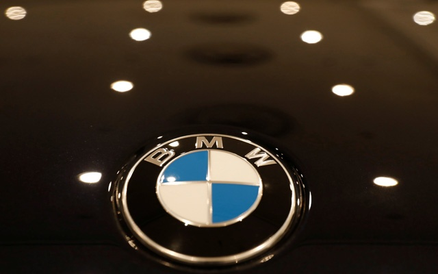 The BMW logo is seen on a vehicle at the New York Auto Show in the Manhattan borough of New York City, New York, US, Mar 29, 2018. Reuters