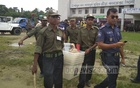 Ballot boxes are taken from the Sylhet Abul Maal Abdul Muhith Sports Complex to polling centres across the city.