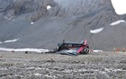 A general view of the accident site of a Junkers Ju-52 airplane of the local airline JU-AIR, which crashed at 2,450 meters (8,038 feet) above sea level near the mountain resort of Flims, Switzerland Aug 5, 2018. Kantonspolizei Graubunden Handout via Reuters