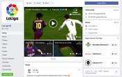A screenshot of Lal Liga's Facebook page