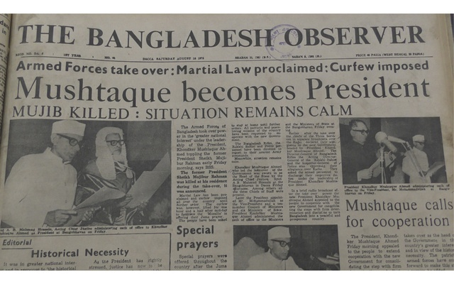 How founding father's assassination turned Bangladesh media overnight on its head
