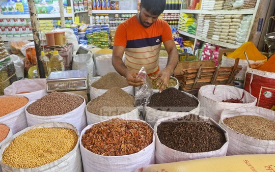 The spice market in Dhaka's Karwan Bazar heats up as demand for spices increases ahead of the Eid-ul-Azha—the second largest religious festival for Muslims. Photo: Abdullah Al Momin