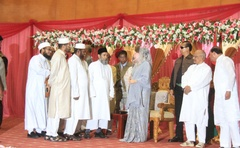 BNP chief Khaleda Zia wishes Bangladesh on Eid-ul-Fitr in 2017. During last year's Eid-ul-Azha the BNP chairperson was abroad and this year she was in prison during Eid-ul-Fitr.