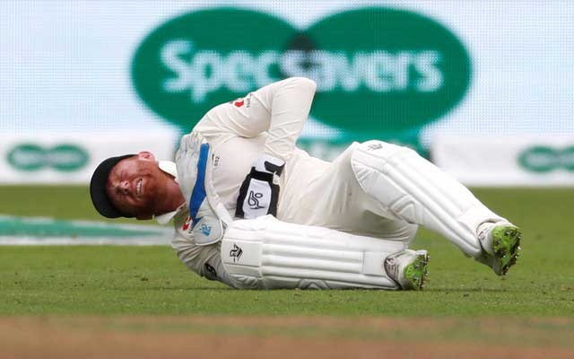 Cricket - England v India - Third Test - Trent Bridge, Nottingham, Britain - August 20, 2018 England's Jonny Bairstow reacts after sustaining an injury Action Images via Reuters