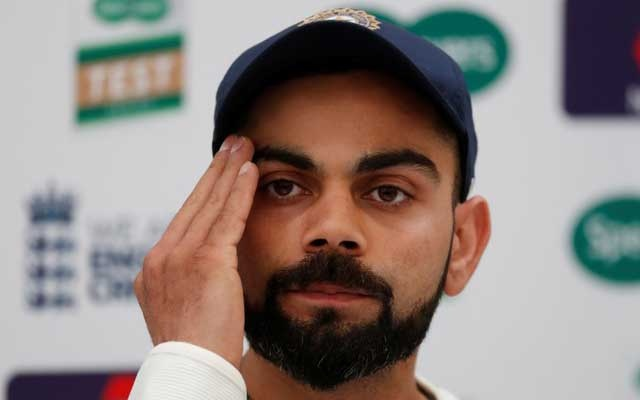 Cricket - India Press Conference - Ageas Bowl, West End, Britain - August 29, 2018 India's Virat Kohli during the press conference Action Images via Reuters/Paul Childs