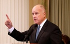California Governor Jerry Brown delivers his final state of the state address in Sacramento, California, US, Jan 25, 2018. Reuters