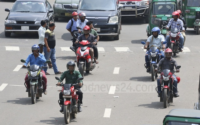 Motorcycle is all the rage as Dhakaites are desperate to beat traffic tailback, transport crunch